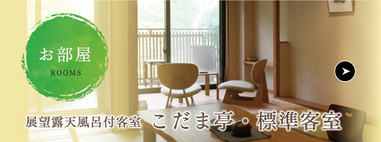 お部屋 展望露天風呂付客室 こだま亭・標準客室